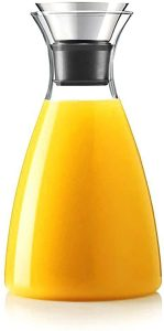 Hiware 50 Oz Glass Drip-free Carafe with Stainless Steel Flip-top Lid reviews