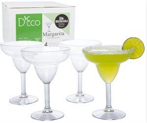 Deco Unbreakable Margarita Glasses Sets