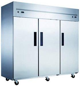 Dukers D83ARF Top Mount Dual Zone 3-Door Commercial Reach-in Refrigerator & Freezer