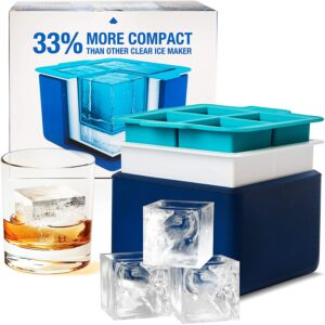 Clear Big Ice Cube Maker by Eparé Store