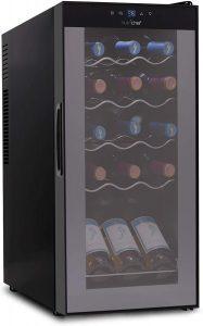 NutriChef PKCWC150 15 Bottle Wine Cooler Refrigerator