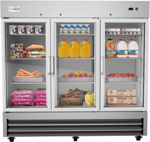 KoolMore Glass Door Commercial Reach-in Refrigerator Cooler