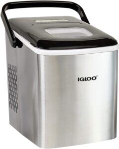 Igloo ICEB26HNSS Automatic Self-Cleaning Portable Electric Countertop Ice Maker Machine