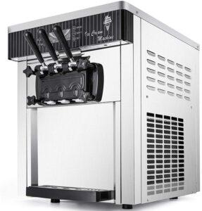 VEVOR Commercial Ice Cream Machine 5.3 to 7.4Gal per Hour Soft Serve
